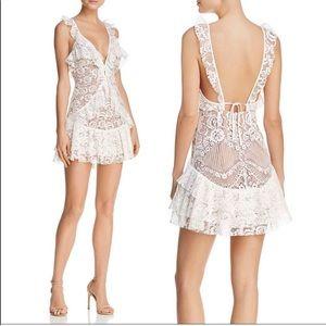 For love & lemons white lace Tati tank dress